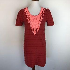 Maison Scotch Mini Dress Size 2 Stretch Red